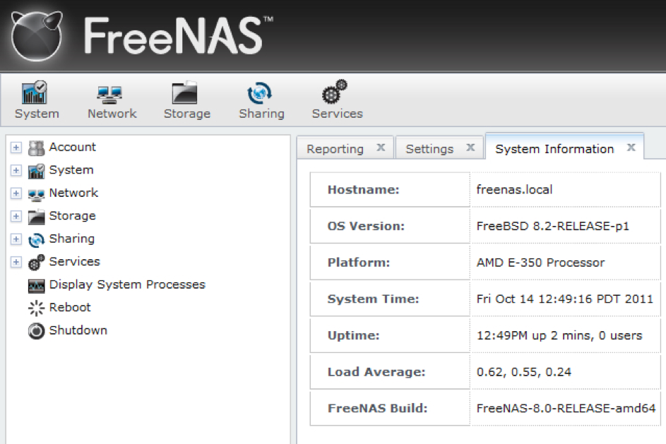freenas local installation